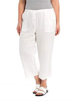 Yarra Trail Woman Washer Linen Cropped Pant