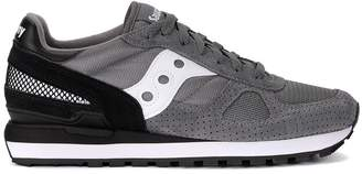 Saucony Shadow Grey And Black Suede And Fabric Sneaker
