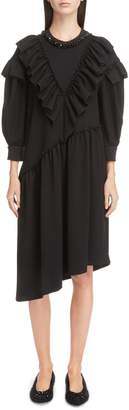Simone Rocha Embellished Frill Shift Dress