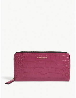 Kurt Geiger London Croc embossed leather wallet
