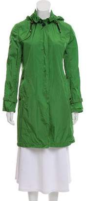 Aquascutum London Hooded Knee-Length Coat