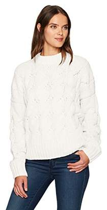 Moon River Women's Cable Detail Boxy Sweater