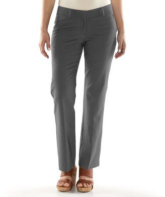 Women's Apt. 9® Torie Modern Fit Straight-Leg Dress Pants $48 thestylecure.com