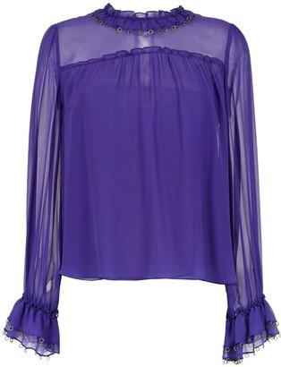 Nk long sleeved silk top
