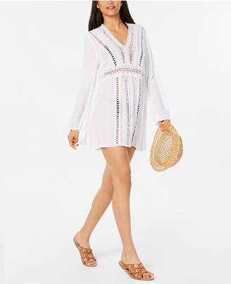Raviya Crochet Tunic Cover-Up Women Swimsuit