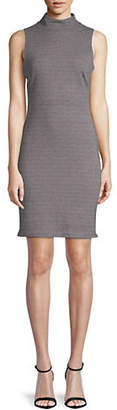 Lord & Taylor DESIGN LAB Mock-Neck Sleeveless Bodycon Dress