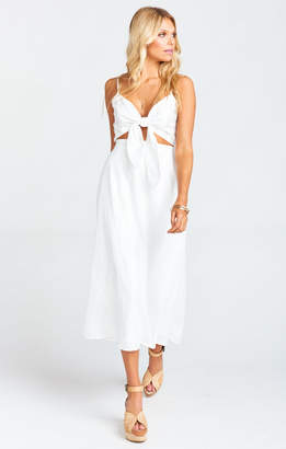 Show Me Your Mumu Moby Tie Maxi ~ White Tulip