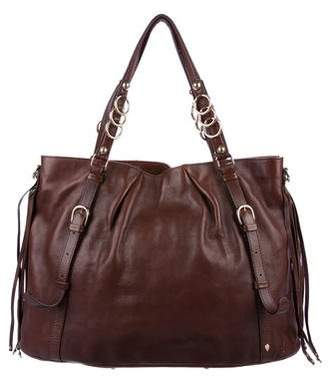 Helen Kaminski Fringe-Accented Leather Satchel