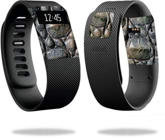 Fitbit Mightyskins MightySkins Skin for Charge 3 - Black Zebra   Protective, Durable, and Unique Vinyl Decal wrap cover   Easy To Apply, Remove, and Change Styles   Made in the USA