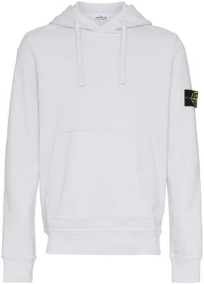 Stone Island Grey Garment Dyed Hooded Sweatshirt