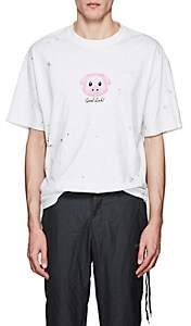 Vetements Men's Lucky Pig Cotton Oversized T-Shirt - White