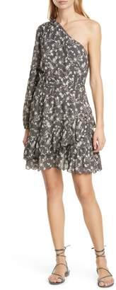 Dolan Lindsay Floral One-Shoulder Dress