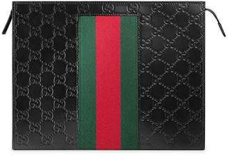 Gucci Signature Web cosmetic case