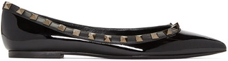 Valentino Black Patent Leather Rockstud Flat $775 thestylecure.com