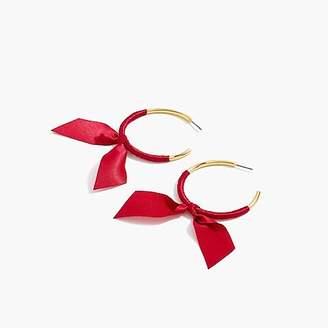 J.Crew Ribbon-wrapped hoop earrings