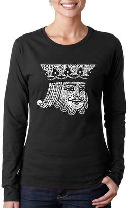 LOS ANGELES POP ART Los Angeles Pop Art King Of Spades Long Sleeve Graphic T-Shirt