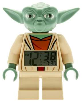 Lego Star Wars 9003080 Kids Minifigure Light Up Alarm Clock | green/brown | plastic | 7 inches tall | LCD display | boy girl | official