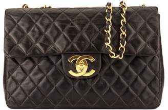 Chanel Black Quilted Lambskin Maxi Classic Flap (3996008)
