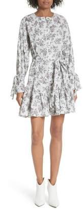 Rebecca Taylor Veronique Ruffle Sleeve Dress