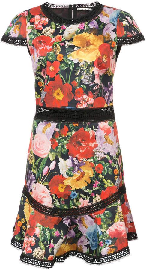 Alice+Olivia Kleid mit floralem Print