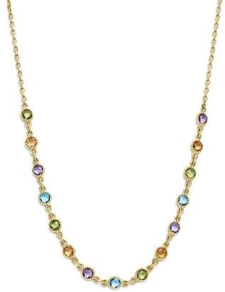 "Bloomingdale's Multi Gemstone Small Beaded Necklace in 14K Yellow Gold, 16"" - 100% Exclusive"