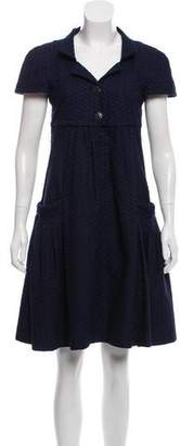 Chanel Embroidered Pleated Dress