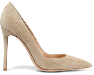 Gianvito Rossi - 105 Suede Pumps - Sand $670 thestylecure.com