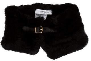 Jimmy Choo Fur Neck Collar w/ Tags