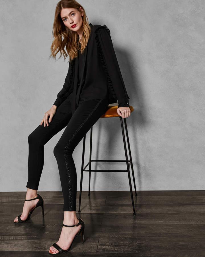 ELYSSIA Crystal stripe skinny jeans
