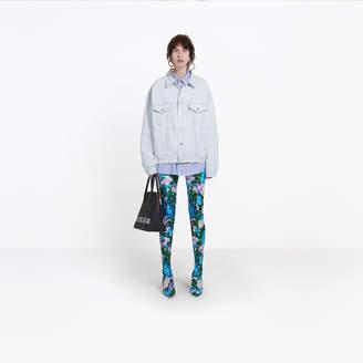 Balenciaga Boxy oversized jacket with logo embossed at back