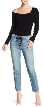 A.L.C. Yoko Lace-Up Slim Fit Jeans