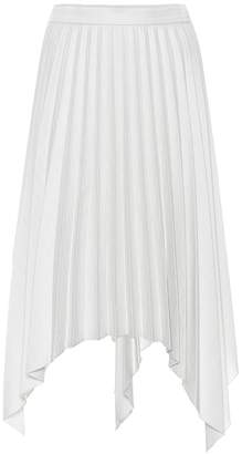 Acne Studios Pleated wool and cotton-blend skirt