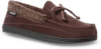 Isotoner Men's Scott Corduroy Moccasin Slippers