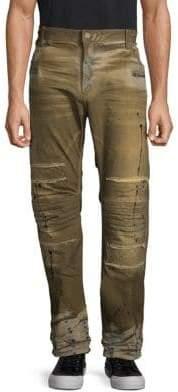 Motard Acid-Wash Jeans