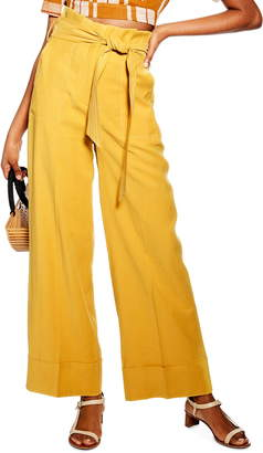 Topshop Paperbag Waist Wide Leg Pants