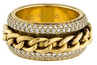 Piaget 18K Diamond Revolving Chain Band Ring