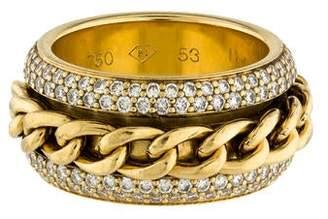 Piaget 18K Diamond Revolving Chain Band Ring