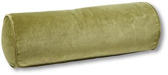 One Kings Lane Anne Bolster Pillow - Moss Velvet