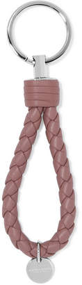 Bottega Veneta Intrecciato Leather Keychain - Pink