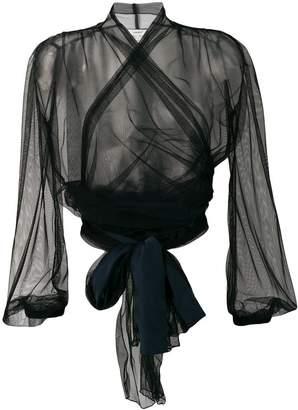 Forte Forte sheer wrap blouse