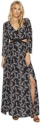 BB Dakota Brook Midnight Floral Printed Maxi Dress with Cut Out Women's Dress