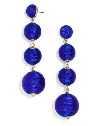 Criselda Ball Drop Earrings $58 thestylecure.com