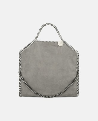 Stella McCartney Light Grey Falabella Shaggy Deer Fold Over Tote, Women's
