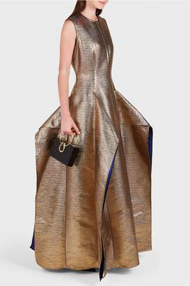 Maison Rabih Kayrouz Sleeveless Metallic Gown