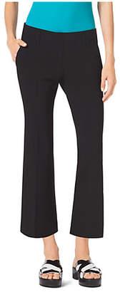 Michael Kors Flared Pebbled-Crepe Cropped Pants