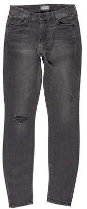 Mother Mid-Rise Distressed Jeans