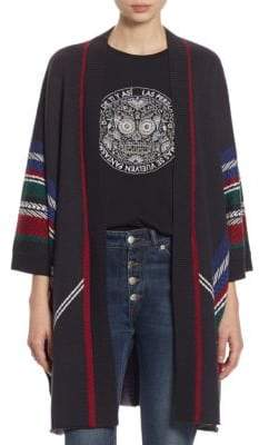 Each X Other Stripe Wool Poncho