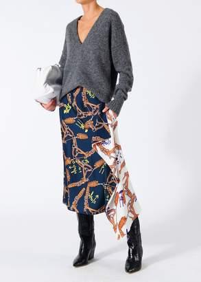 Tibi Renzo Scarf Print Asymmetrical Skirt