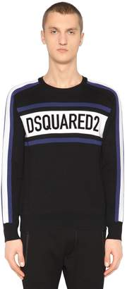 DSQUARED2 Ski Logo Wool Blend Knit Sweater