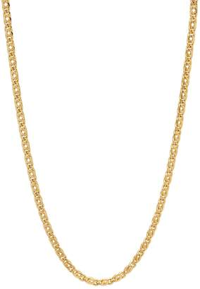 Factory The Bling 2.8mm 25 mills 24kt Gold Plated Mariner Link Chain Necklace, 20 inches